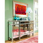 Pallet ~ Powell Mirrored 3-Drawer and 4-Door Console Table in Silver # 11-WM4784