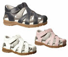 Girls Shoes Grosby Bindi White Navy or Pink Leather Sandals 4-12 Covered Toe New