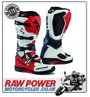TCX Comp Evo Motorcycle Michelin Motorbike Boots - Red/White/Blue