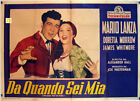 BECAUSE YOU�RE MINE/ 40784/ MARIO LANZA/ 1952/ ALEXANDER HALL/ / POSTER