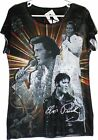 Elvis Presley All Over Sublimination Print Ladies T-Shirt