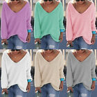 1pc Women Knitted Casual Long Sleeve Pullover Jumper Loose Tops Sweater Knitwear