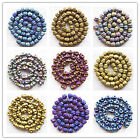 BY-22 Carved Mixed Color Plated-color Hematit loose bead 15.5inch