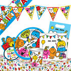 MR. MEN - Birthday PARTY RANGE (Tableware, Balloons & Decorations) Boys/Girls