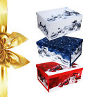 Christmas Decorations Storage Boxes Tinsel Xmas Gift Baubles Presents Tree Box