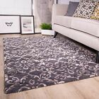 NEW Charcoal Dark Grey Boho Bohemian Soft Warm Living Room 100% Wool Woollen Rug