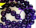 UKcheapest-Amethyst round 4 6 8 10 12 14mm purple gemstone beads(color enhanced)