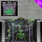 HALLOWEEN FIREPLACE SCENE SETTERS - GHOUL SKELETONS HORROR PARTY DECORATION