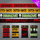 Twin Pack Warning Tape - Horror Party Decorations Horror Zone Keep Out Caution