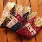 Women Sock  Winter Warm Socks Wool Sock Cute Snowflake Deer Sock Christmas Sock