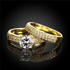 1pair Hot Lots Zircon Design Wedding Jewelry Round Rings Size 5-9 Fit Gifts LC