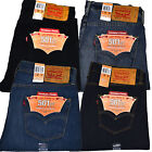 Levis 501 Ct Mens Button Fly Jeans Customized And Tapered Leg Original Fit New