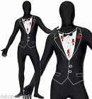 Shot Gangster Tuxedo Bodysuit Second Skin Fancy Dress Costume XL $12.46 USD on eBay