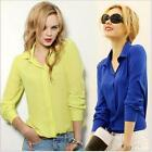 New Women fashion Pure color Long sleeve v-neck Snow spins unlined upper garment