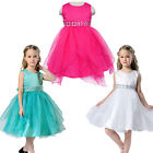Girls Pageant Beaded Polyester Tutu Dress Organza Party Sleeveless