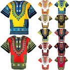 12 Yellow & Red Shade Dashiki African Mexican Poncho Shirt Blouse Cotton Var