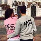 Mens Womens Couple Long Sleeve Hoodie Sweatshirt Jumper Sweater Pullover Tops