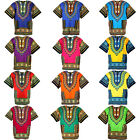 12 Color Shade Dashiki African Mexican Poncho Shirt Blouse Cotton Unisex Var