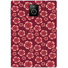 Maroon Floral Flowers & Stripes Pattern Hard Case For Blackberry Q30 Passport