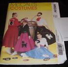 McCalls 6234 Misses Poodle Skirt & Bowling Jacket Top Scarf Costumes Rockabilly