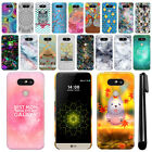 For LG G5 H850 VS987 Art Design Protective Phone Hard Case Back Cover + Pen