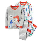 Carter's Boys Grey/White Dinosaur Print Pajama Set - Toddler