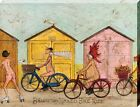 Sam Toft Brighton Naked Bike Ride Canvas Print 40x30x3.8cm