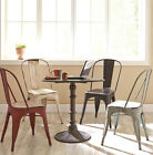 NEW 5PC INDUSTRIAL BRONZE METAL INDIGO DINING SET w/ RED BLUE WHITE BLACK CHAIRS