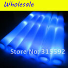 "24~300 PCS 19"" LED Light-up Foam Sticks Rally Rave Soft Glow Stick Baton Wands"