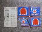 1940/41 Bee Hive NHL Hockey Photos checklist PLUS Two Labels.