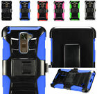 2Layer Case Cover w/Stand+Holster Belt Clip For LG Stylo 2/ Stylo 2 V / Stylus 2