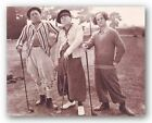 COMEDY ART PRINT The Three Stooges Golf
