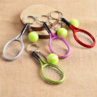 Fashion Metal Creative 3D Tennis Rackets Ball Key Chain Key Ring Gift Keychain