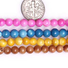 "6mm Round Shell Craft Stone Beads For Jewelry Making Necklace Bracelets 15"" DIY"