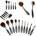 1/10pcs Toothbrush Shaped Foundation Power Makeup Oval Cream Puff Brushes Sets E