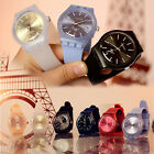 Casual Womens Watches Quartz Wrist Watch Analog Silicone strap Band Lot