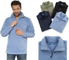Fleece Pullover Troyer Qualityshirts Gr. S - 6XL