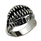 Monster Teeth Ring .925 Thai Silver Cool Jewelry for Men's Fashion SZ15-1269