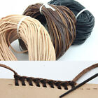 [PF] Flat 2mm-30mm 100% Leather T-shirt Rope 3 Colors Choose 1 Meter