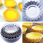 5/10/30/50/Pcs 6 Sizes Egg Tart Aluminum Reusable Mold Cake Tin Baking Pan Mould