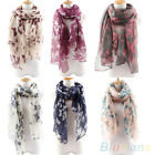 Women's Soft Butterfly Long Neck Voile Wrap Shawl Pashmina Stole Scarf Hot