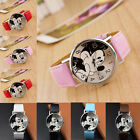 New Fashion Cute Cartoon Mickey Mouse Leather WristWatch Girl Women Kids Watches