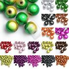10/20/40/80/120pcs Acrylic Miracle Round Beads Jewelry Findings 4/6/8/10/12mm