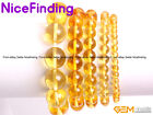 Yellow Citrine Quartz Crystal Stone Bead Elastic Bracelet Jewelry Man Women Gift