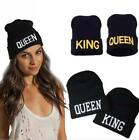 Queen King Cap Hip Hop Winter Beanies Hats Knitted Lovers And Letter Warm - LD
