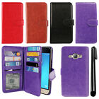 For Samsung Galaxy J1 J120 2nd Gen/ Luna S120 Card Holder Wallet Cover Case +Pen