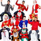 Carry Me Christmas + Free Hat Adult Fancy Dress Xmas Festive Mens Ladies Costume