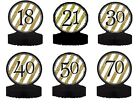 "BLACK & GOLD - 12"" AGED CENTERPIECE (Birthday Party/Centerpiece/Age/Number)"