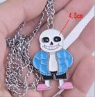 Undertale Sans Papyrus Red Heart Necklace Keychain+Box Gift Metal Pendants Otaku