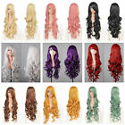 Hot Fashion Womens Long Wavy Curly Hair Anime Cosplay Party Full Wig & Cap 32""